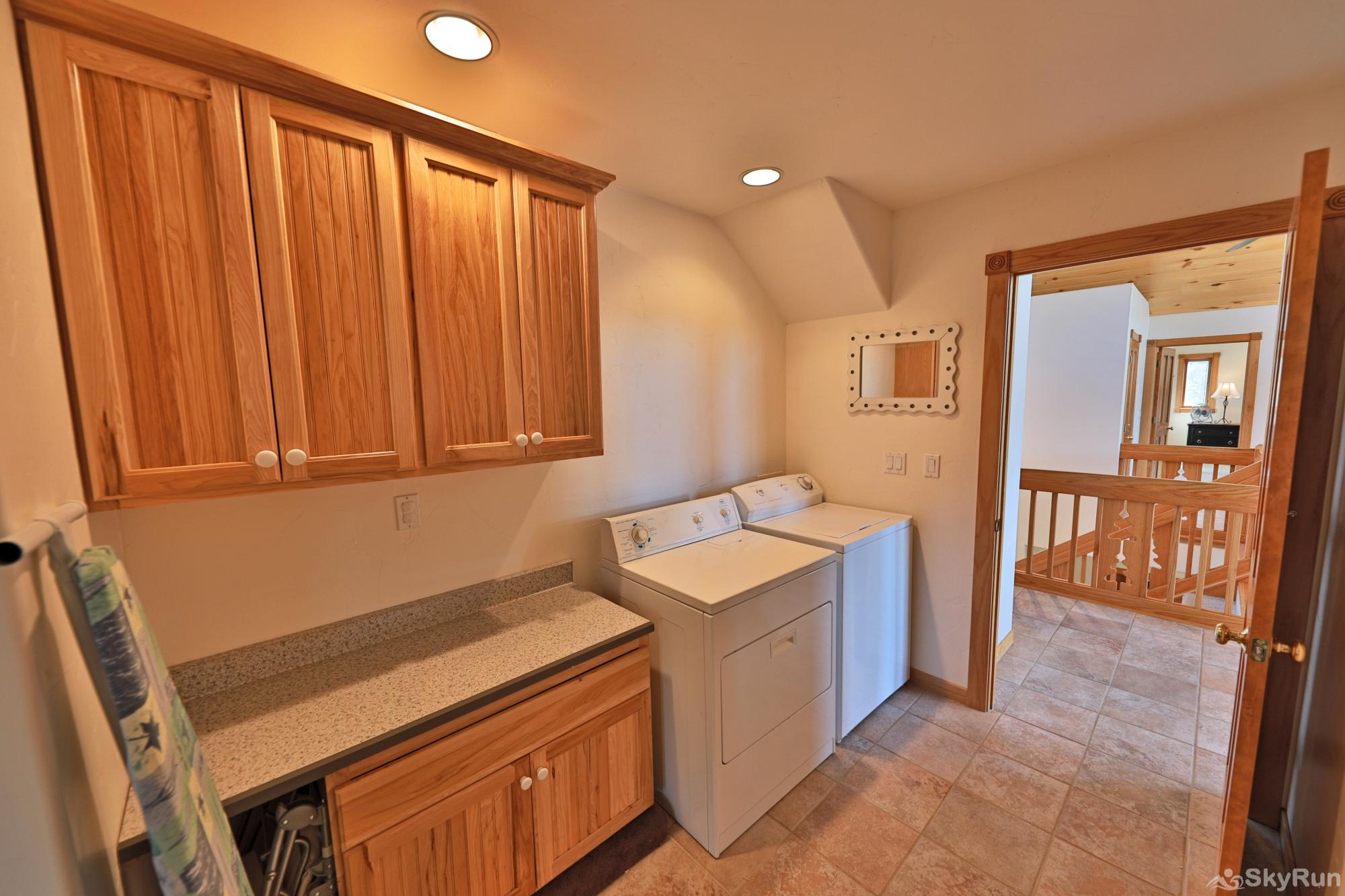 Mountain Peak Laundry Room with Full Sized Washers